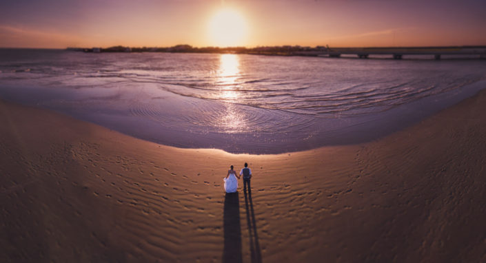 Charleston Wedding Photographer Drone Shot