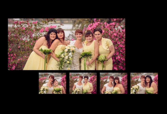 Bridesmaids in the Azaleas