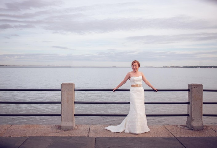 Bridal Portraits on the Battery