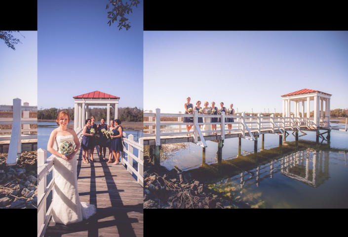 Pier Portraits of the Bridesmaids