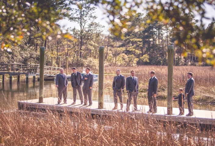 Portraits of the Groomsmen on the Dock