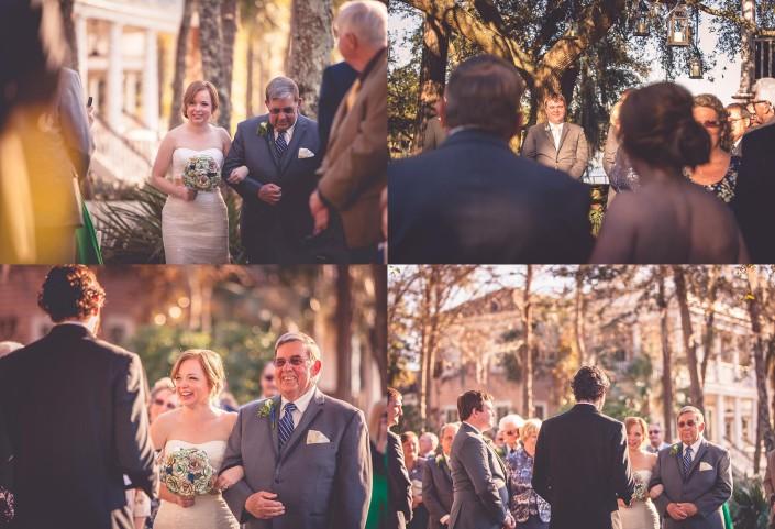 Bride comes down the Aisle
