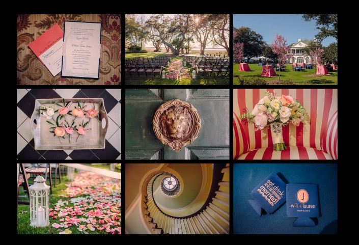 Details for the Lowndes Grove Wedding