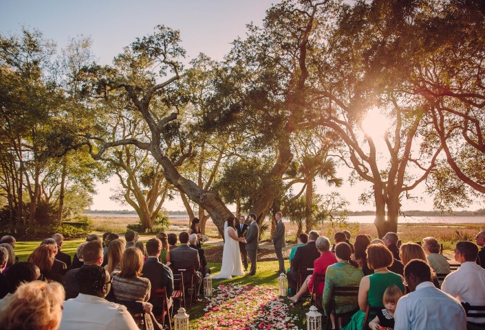 Sunset Ceremony at Lowndes Grove