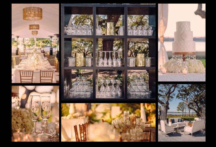 Decor of the Reception Tent at Lowndes Grove