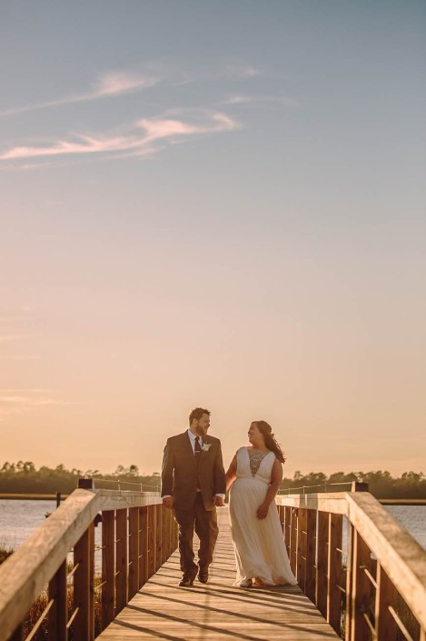 Bride and Groom on the Pier