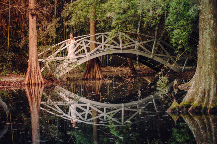 Magnolia Plantation Wedding Bridge