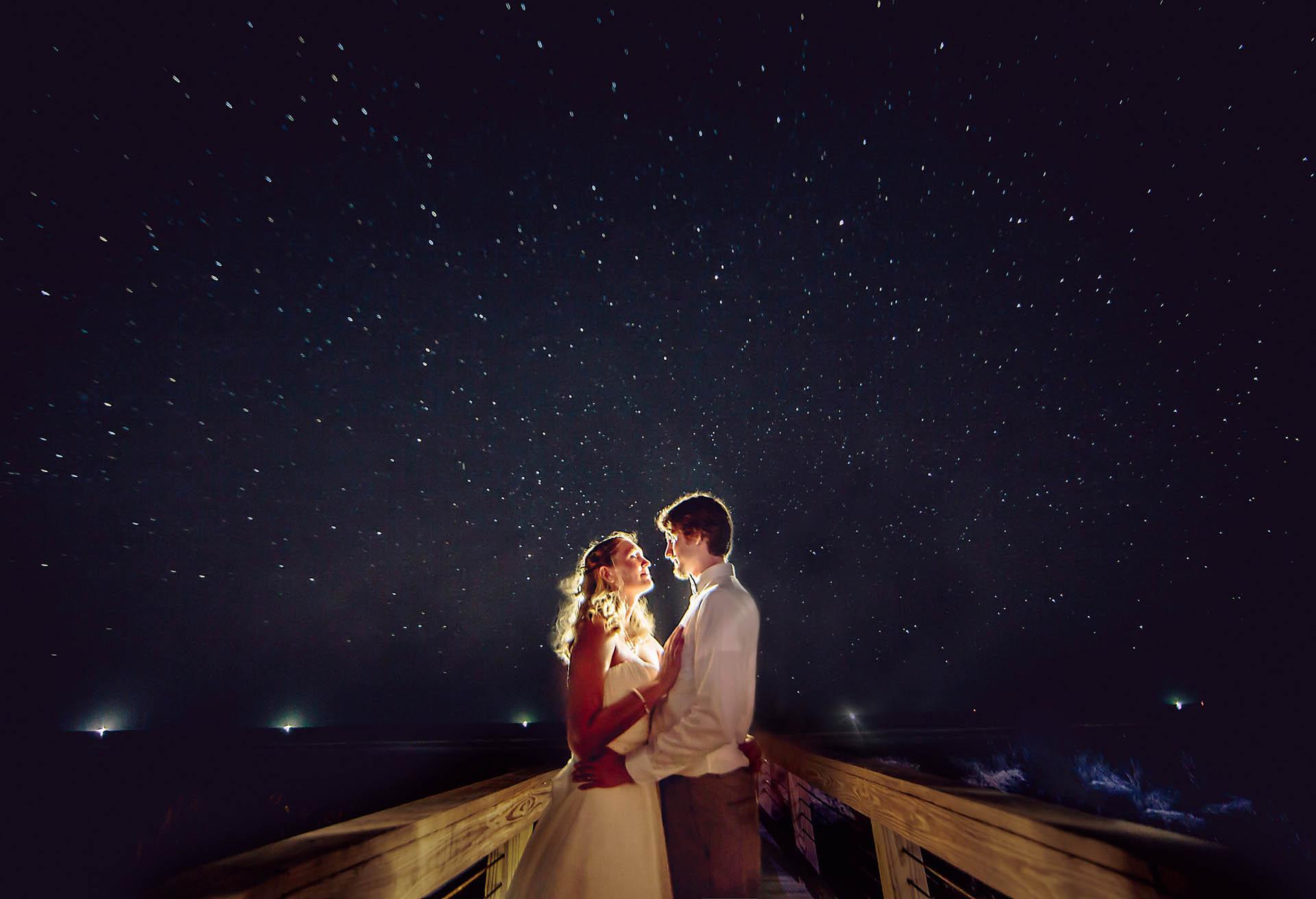 Under the Stars Beach Wedding