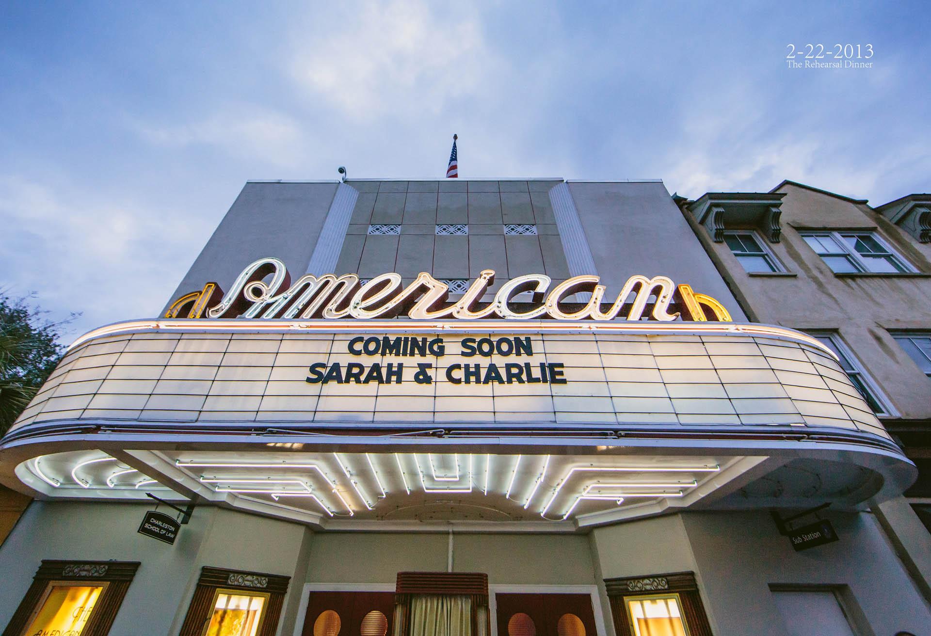American Theater Charleston Wedding Photography