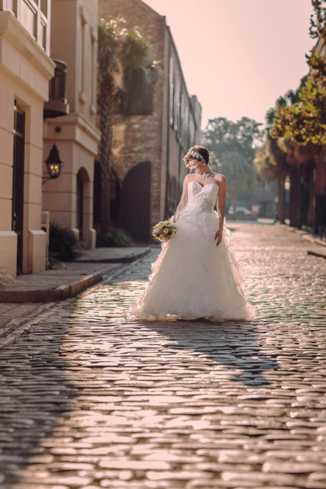 Cobblestone Bridal Portrait
