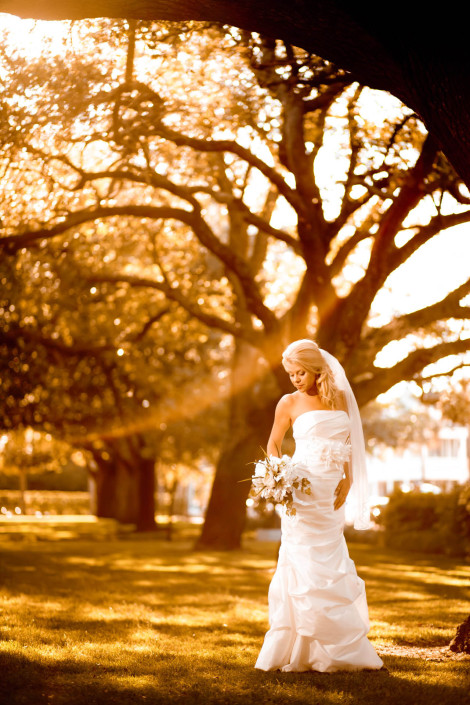 White Point Gardens Bridal Portrait