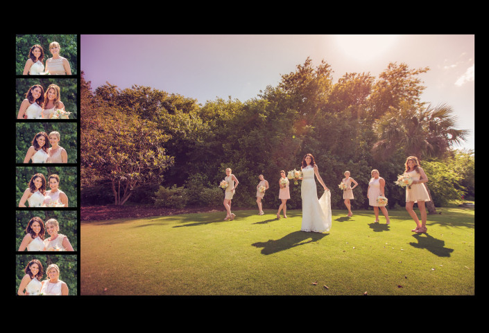 Bridesmaids Portraits on the Green