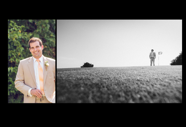 Groom Portrait on the 18th Hole