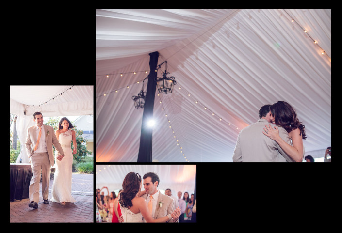 first dance in tent with liner