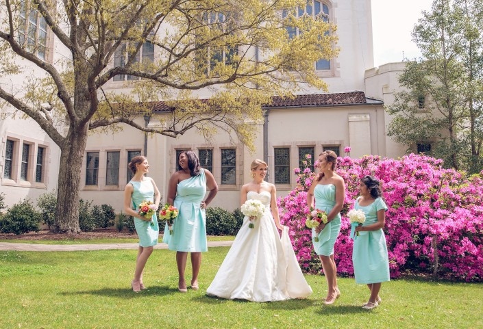 Bridesmaids and Azaleas