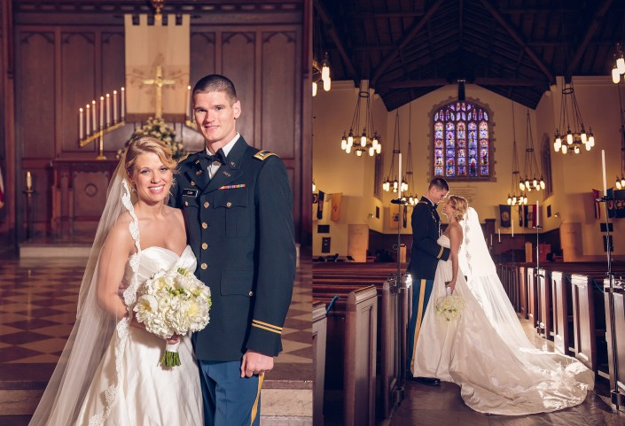 Bride and Groom in Summerall Chapel
