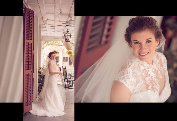 Bridal Portraits on Porch