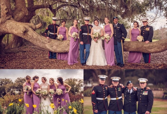 Wedding Party at the Oaks