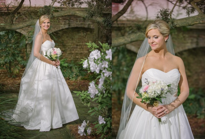 Bride's Portraits in the William Aiken House Garden
