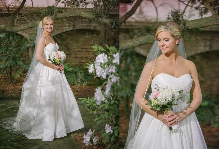 Bride's Portraits in the William Aiken House Garden