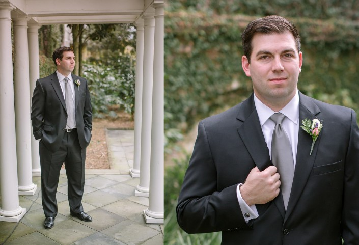 Groom's Portraits in William Aiken House Garden