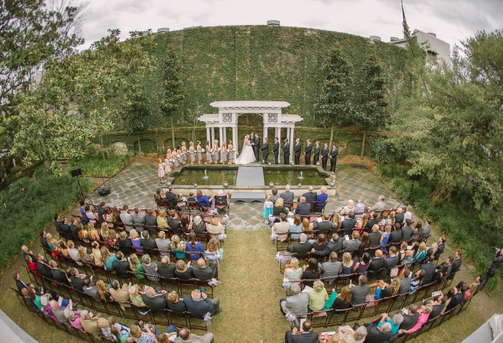 Ceremony at the William Aiken House