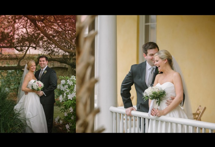 Bride and Groom at William Aiken House