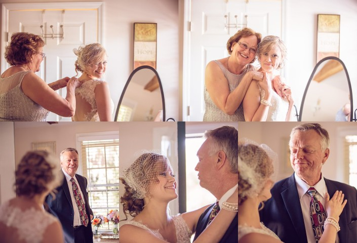 Getting ready in Bridal Cottage