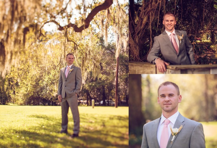 Groom's portraits at Magnolia Carriage House