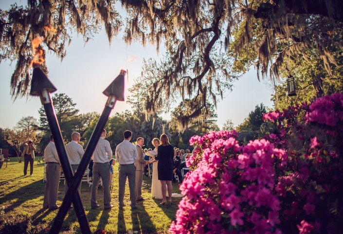 Carriage House Lawn Ceremony at Magnolia Plantation