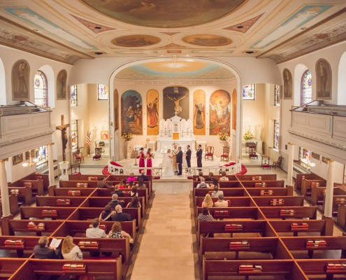 Ceremony at St. Mary's Catholic Church in Charleston, SC