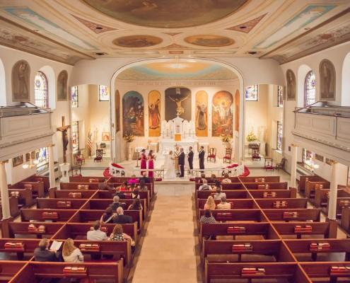 Ceremony at St. Mary's Catholic Church in Charleston, SC
