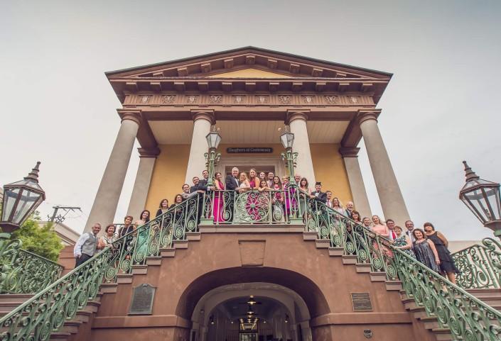 Market Street Charleston, SC wedding party