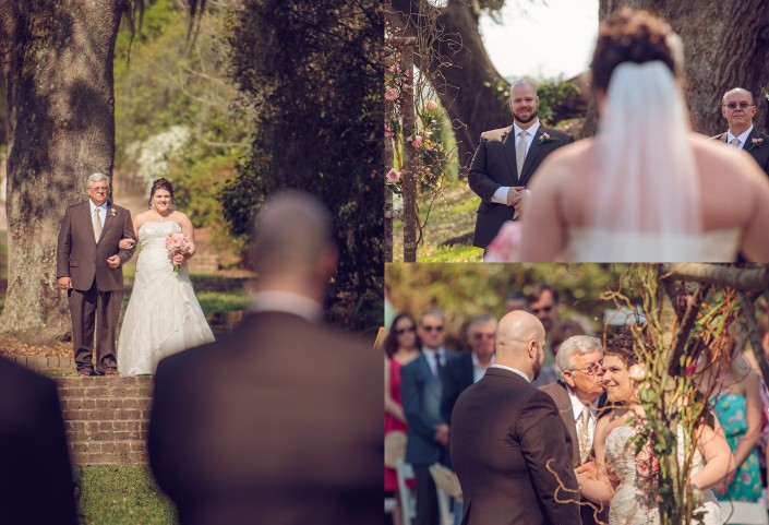 The Bride's Processional at Mepkin Abbey