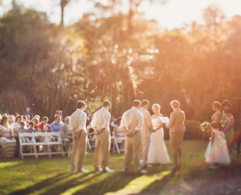 Wedding Ceremony on White Bridge Lawn