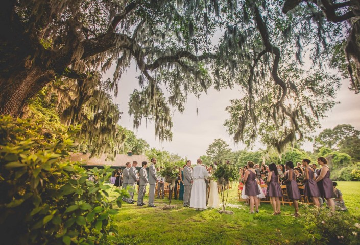 Carriage House Ceremony at Magnolia Plantation