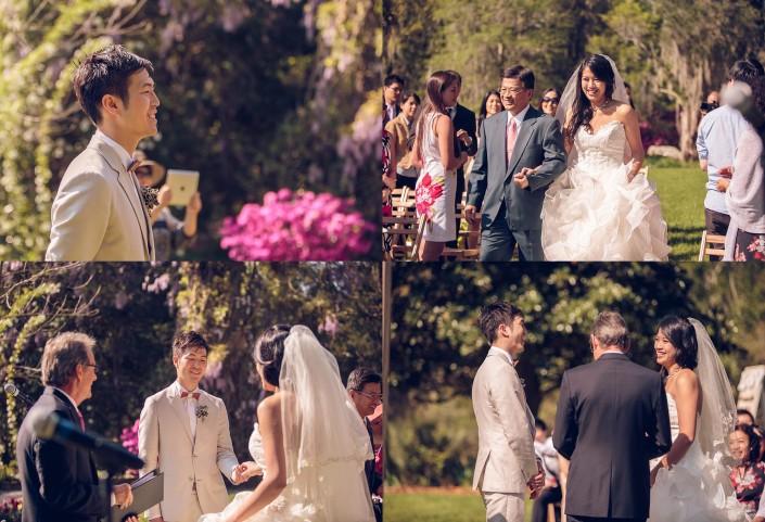 The Bride Comes Down the Aisle