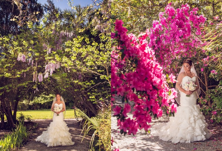 Bridal Portraits in the April Azaleas