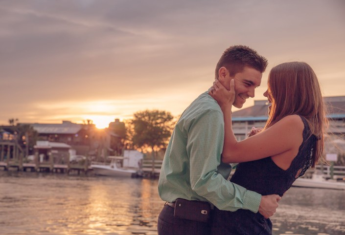 Bride and Groom at Shem Creek