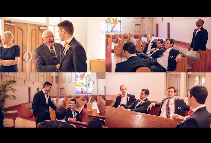 Groomsmen at Immaculate Conception