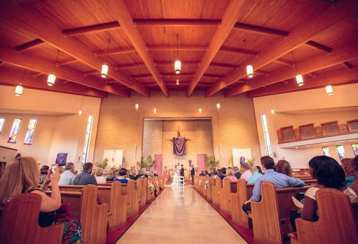 Wedding Ceremony at Immaculate Conception Catholic Church