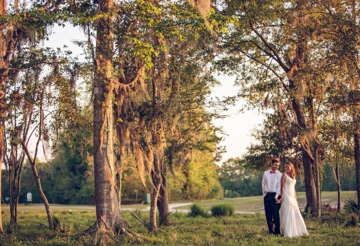 Bride and Groom At Wescott Plantation