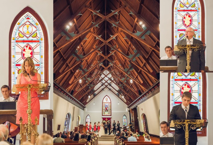 Ceremony at St. Luke's Chapel