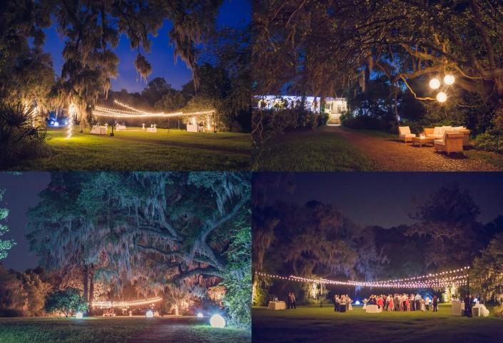 Magnolia Plantation Veranda Reception Setup