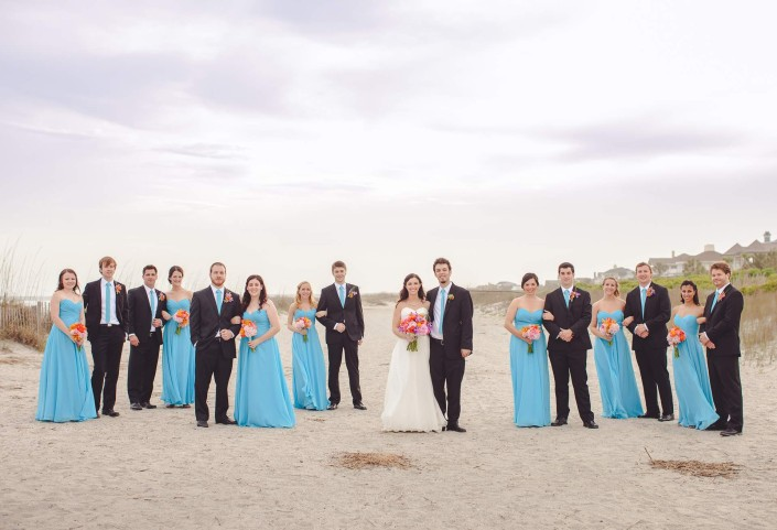 Wedding Party on IOP beach