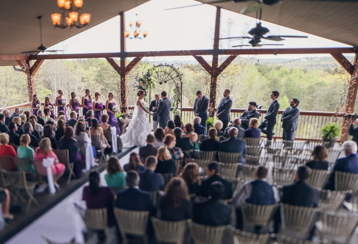 Wedding Ceremony at Wolf Mountain Vineyards