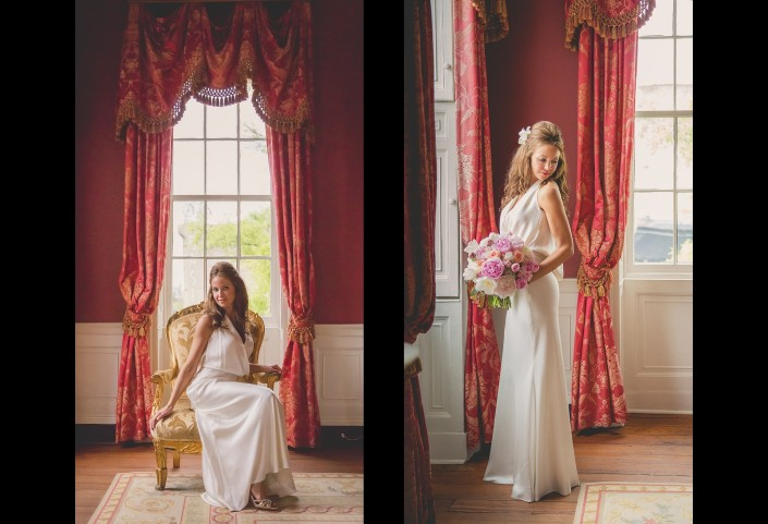 Bridal Portraits in the William Aiken House