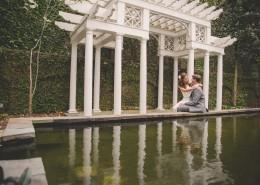 Bride and Groom Reflecting Pool