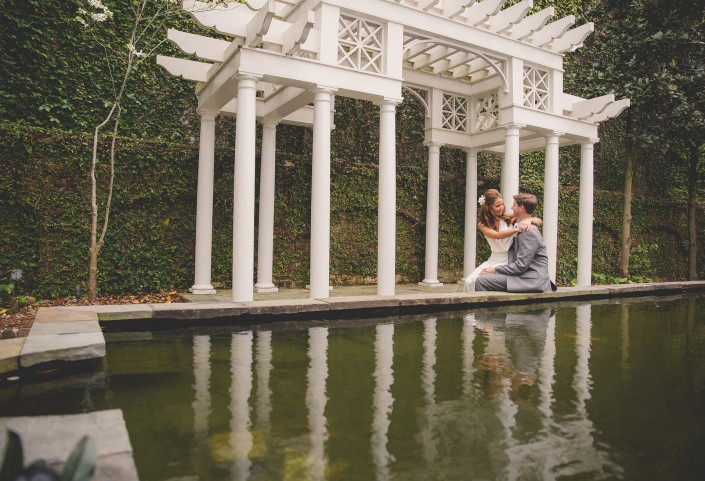 Bride and Groom Reflecting Pool