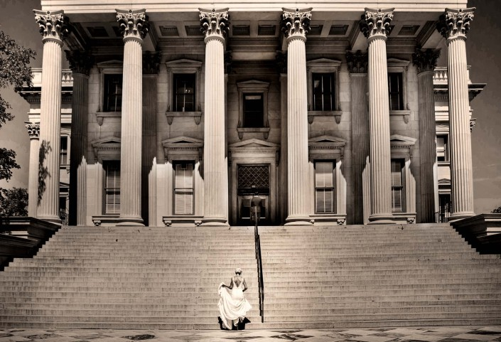 First Look on the Customs House Steps